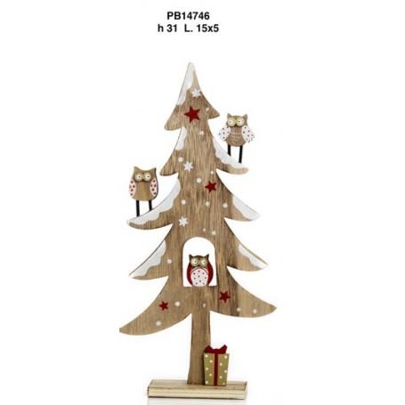 Albero Di Natale In Legno.Albero Di Natale Legno Cm 31 1 24