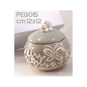 Barattolo Ceramica Grigio 11x13 con Box 1*12