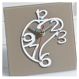 Orologio Vetro New Art cm.12x12 con box 1*36