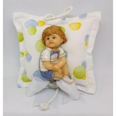 Cuscino Medio Boy con 3 Confetti