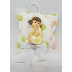 Cuscino Medio Girl con 3 Confetti
