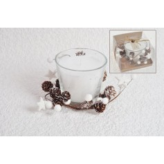 Vasetto candela natalizia decorata