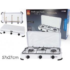 FORNELLO A GAS 3 FUOCHI C/COP.871702