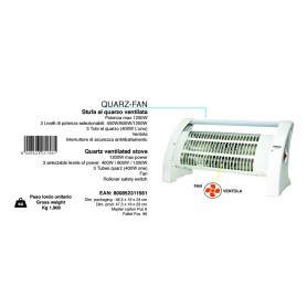 STUFA QUARZ-FAN JOHNSON VENTILATA 400-1200W