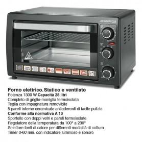 FORNO ELETTRICO JOHNSON C28 28 50 VENTILATO CERAMICO 1300 WATT