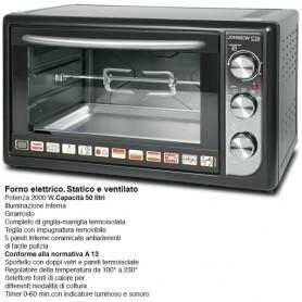 FORNO ELETTRICO JOHNSON C50 LT 50 VENTILATO CERAMICO