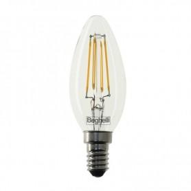 LAMPADINA LED ZAFIRO BEGHELLI OLIVA E14 470 LUMEN 2700K