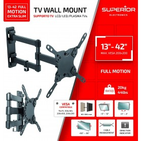 "STAFFA TV SUPERIOR 13""-42"" FULL MOTION EXTRA SLIM 20 KG"