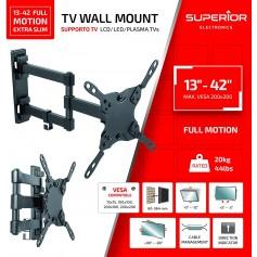 "STAFFA TV SUPERIOR 13""-42"" FULL MOTION EXTRA SLIM 20 KG"