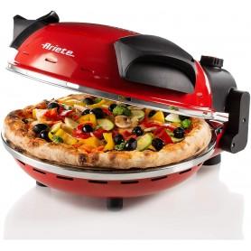 FORNO ELETTRICO ARIETE PIZZA 909 Pizza in 4 minuti, 400 gradi, Piastra in pietra refrattaria 33 cm di diametro, 1200 watt, Tim