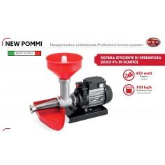 PASSAPOMODORO NEW POMMI PROFESSIONALE CON MOTORE ELETTRICO 450 W150 KG/H